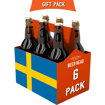 a six pack of Swedish craft beer